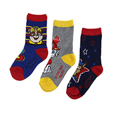 Children's Paw Patrol Triple Pack Socks Navy/Red/Grey