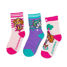 Children's Paw Patrol Triple Pack Socks Pink/Purple