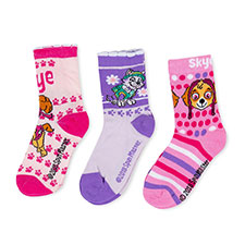 Children's Paw Patrol Triple Pack Socks Pink/Lilac