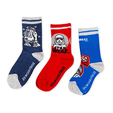 Children's Star Wars Triple Pack Socks Red/Blue/Navy