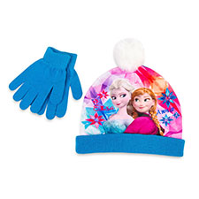 Children's Frozen Hat & Glove Set Blue