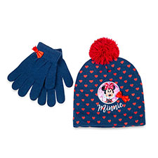 Children's Minnie Mouse Hat & Glove Set Navy