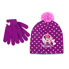 Children's Minnie Mouse Hat & Glove Set Purple