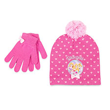 Children's Disney Princess Hat & Glove Set Pink