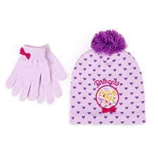 Children's Disney Princess Hat & Glove Set Purple