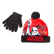 Children's Star Wars Hat & Glove Set Black