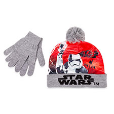 Children's Star Wars Hat & Glove Set Light Grey