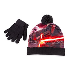 Children's Star Wars Hat & Glove Set Plain Black