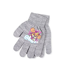 Kids Paw Patrol Gloves  Light Grey