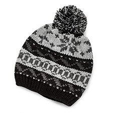 totes Mens Fair Isle Knitted Hat