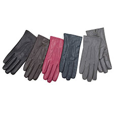 Isotoner Ladies 3 Point Waterproof Leather glove