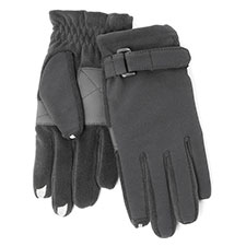SmarTouch Mens Nylon & Fleece 3 Finger Touchscreen Gloves