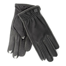 SmarTouch Mens 3 Finger Tech Palm Grip Touchscreen Gloves