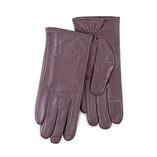 Isotoner Ladies Waterproof 3 Point Leather Gloves Mink