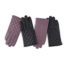Isotoner Ladies Luxury Quilted Leather Gloves