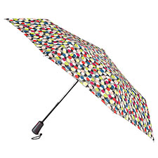 totes Auto Open Close XTRA STRONG Multi Dots Scarlet Umbrella