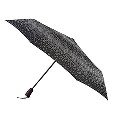 totes Auto Open Close XTRA STRONG B&W Graduated dots Umbrella
