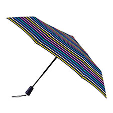 totes Auto Open Close XTRA STRONG Multi visual stripe Umbrella