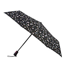 totes Auto Open Close XTRA STRONG Dotty Daisy Umbrella