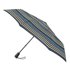 totes Auto Open/Close Xtra Strong Renovate Stripe Print Umbrella