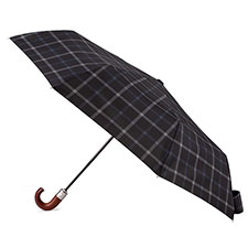 totes X-TRA STRONG Auto Open/Close Grey Check Print Umbrella