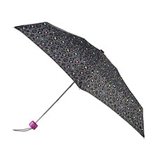 totes Mini Round Multi Panther Print Umbrella