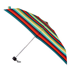 totes Compact Round Enchanted Stripe Print Umbrella (5 Section)