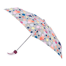 totes Compact Round Dotty Print Umbrella