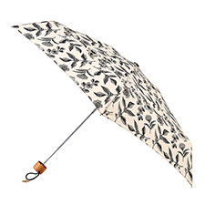 totes Compact Round Botanical Floral Print Umbrella (5 Section)