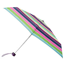 totes Mini Thin Round Block Stripe Print Umbrella
