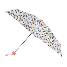 totes Mini Round Paradise Ast Multi Dots Print Umbrella