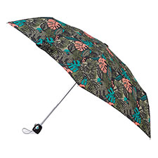 totes Auto Open/Close Thin Jungle Leaf Print Umbrella