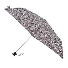 totes Auto Open/Close Thin Zebra Print Umbrella (3 Section)