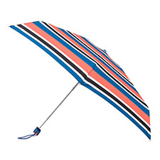 totes Compact Flat Nautical Stripe Print Umbrella