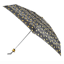 totes Compact Flat Dots and Stars Print Umbrella
