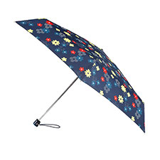 totes Miniflat Dotty Stripe Flowers Print Umbrella