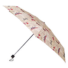 totes Butterfly Postcard Miniflat Thin Umbrella