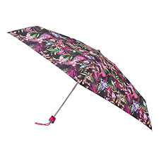 totes Compact Flat Tropical Hummingbird Print Umbrella