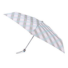 totes Compact Flat Diagonal Check Print Umbrella