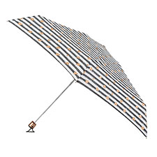 totes Miniflat Stripe with Copper Hearts Print Umbrella