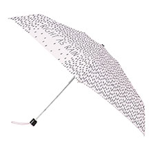 totes Miniflat Right as Rain Print Umbrella