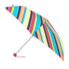 Totes Supermini Diagonal Stripe Print Umbrella (3 Section)