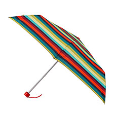 totes Supermini Enchanted Stripe Print Umbrella (3 Section)
