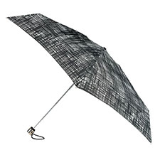 totes Supermini B&W Scribble Print Umbrella
