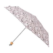 totes Supermini Wooden Handle Doodle Dog Print Umbrella (3 Section)
