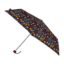 totes Supermini Embroidered Forest Print Umbrella (3 Section)