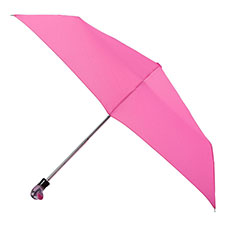 totes Steel Pink Print with Duck handle Umbrella