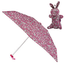 totes Mini Round Umbrella in Bunny Case