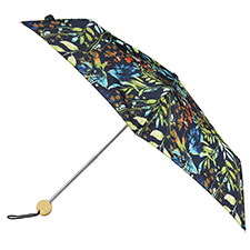 totes Supermini Watercolour leaves Print Umbrella (3 Section)