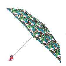 totes Supermini Electroplated Globe Handle  Jungle Animal Print Umbrella (3 Section)